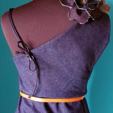 Csinger Mercédesz - Denim Couture Maxi - női maxidressz, farmer 3