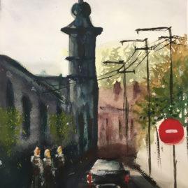 Sziráki Barbara - Visegrád utcakép